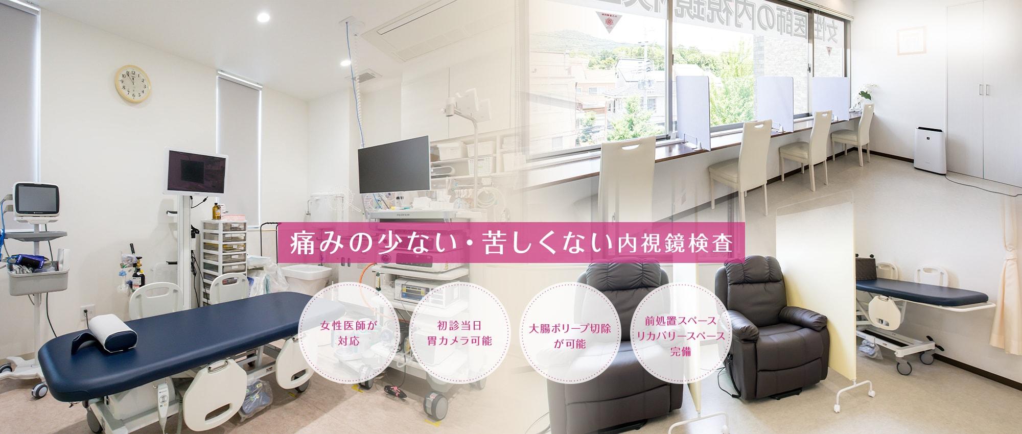 箕面市で痛みの少ない・苦しくない内視鏡検査(胃カメラ・大腸カメラ)